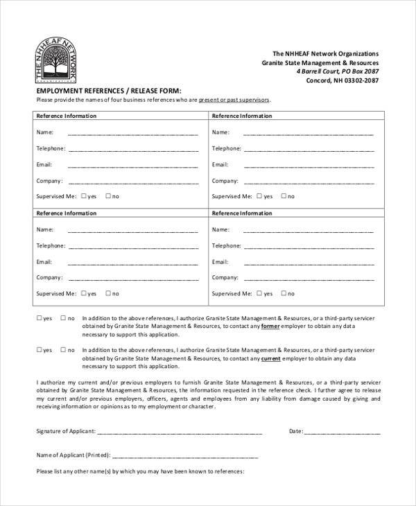 employment reference release form4