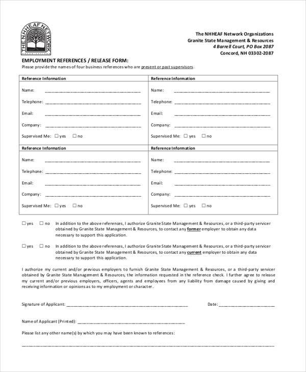 employment reference release form2