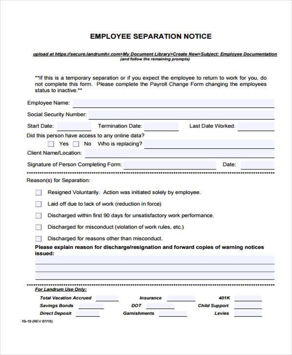 employment separation certificate template - employment separation certificate template 28 images