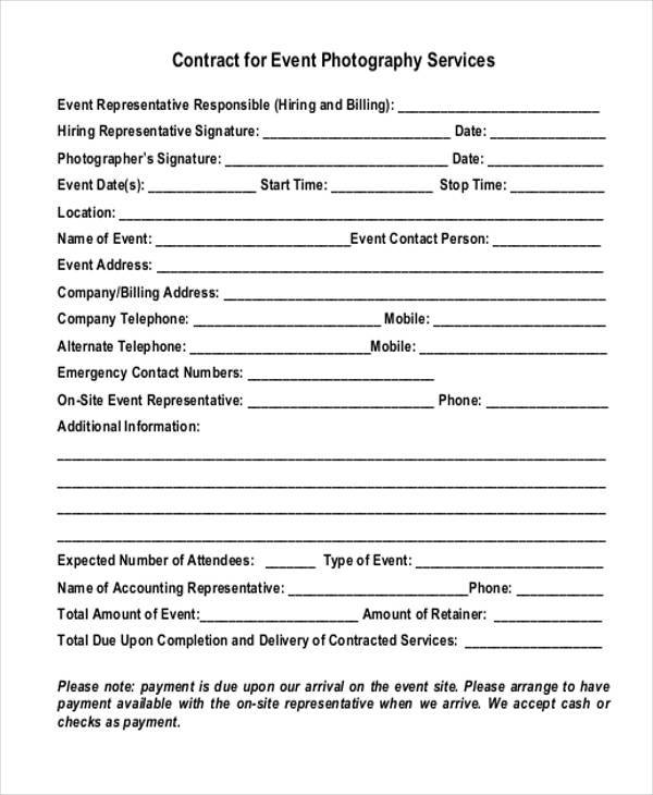 7+ Event Contract Form Samples - Free Sample, Example Format Download