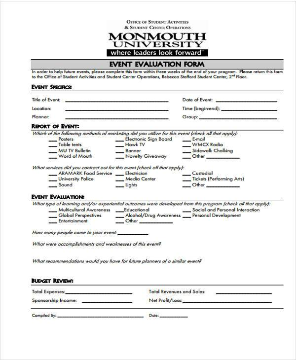event sponsorship evaluation form