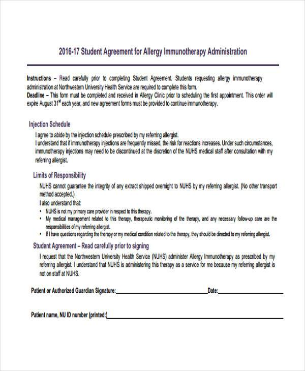example of administration agreement form