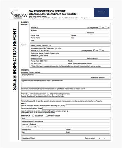 exclusive sales agency agreement form