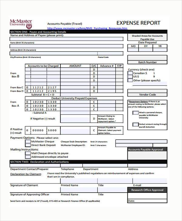 expense report approval form