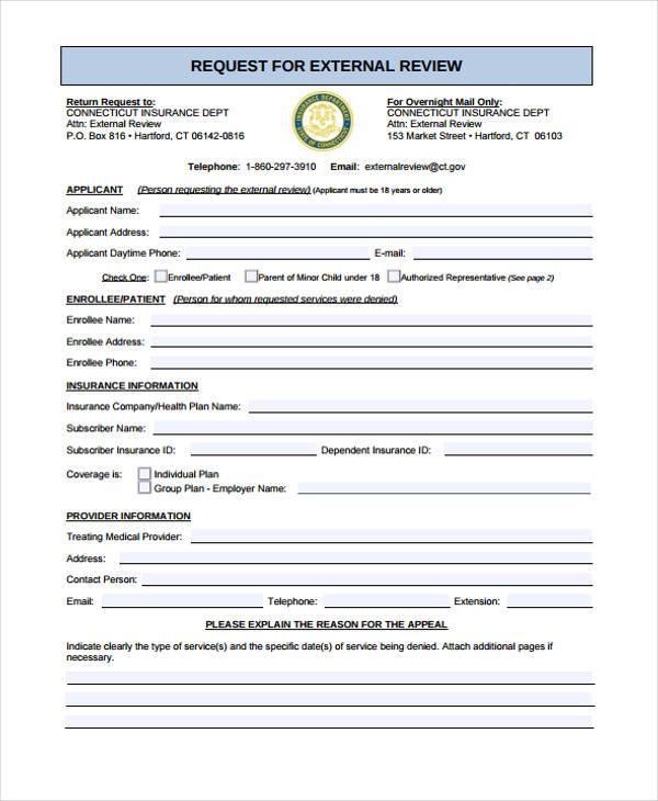 external review application form