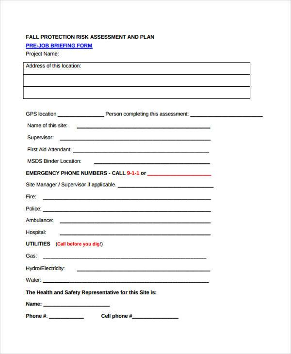 fall protection risk assessment form1