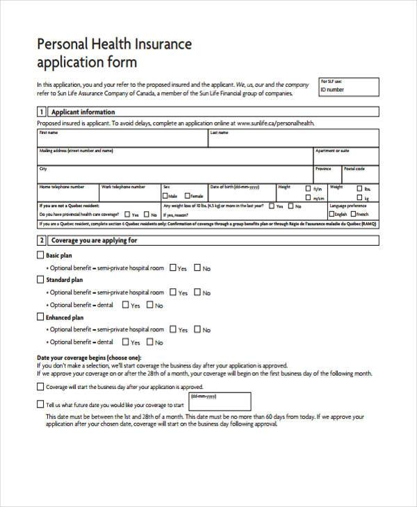 family health guard proposal form