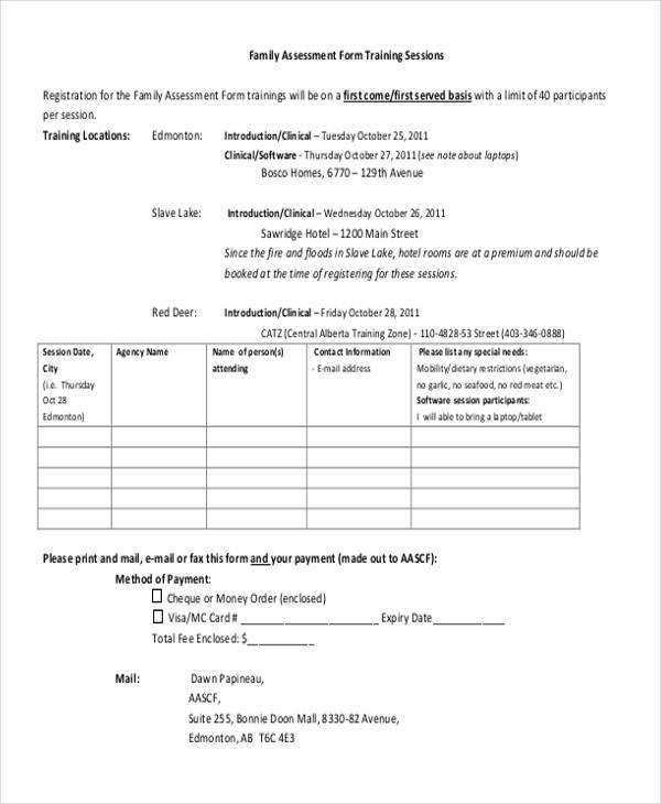 family therapy assessment form1