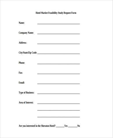 feasibility request form example