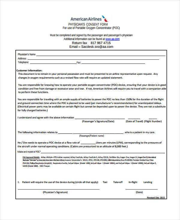 fillable physicians consent form