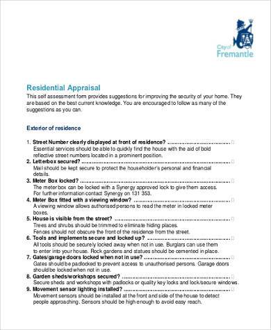 fillable residential appraisal form1