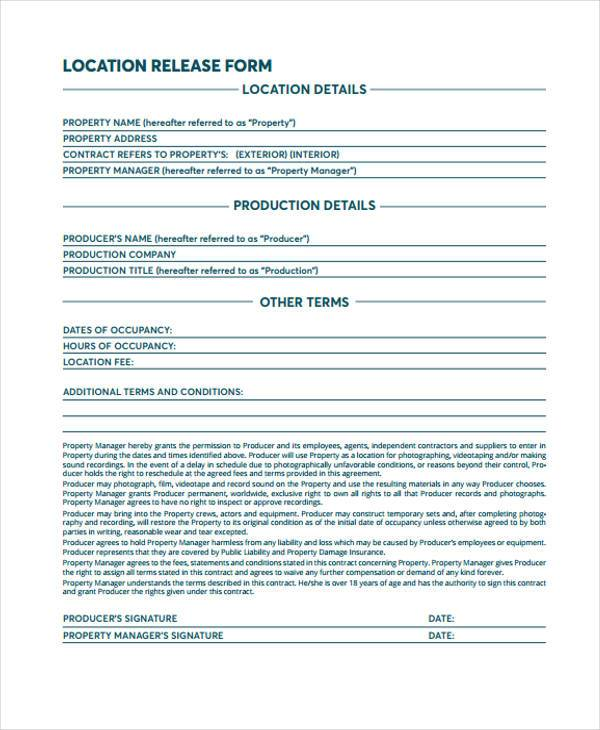 film interview release form