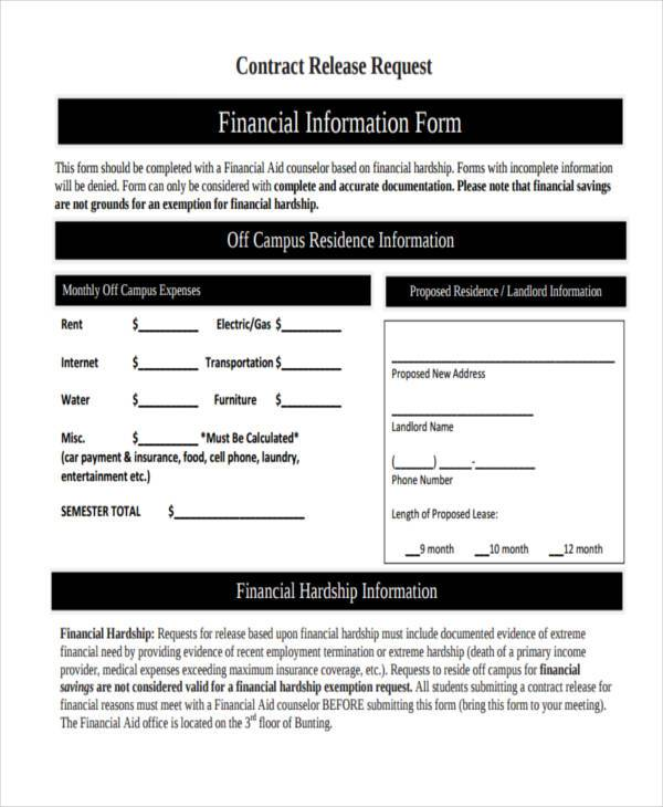 Sample Financial Contract Forms - 7+ Free Documents in Word, PDF