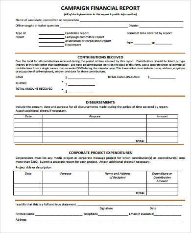 Sample Financial Report Forms - 8+ Free Documents In Word, Pdf