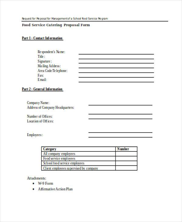 food service catering proposal form5