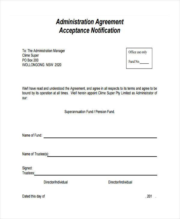 form of fund administration agreement