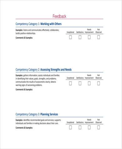 free appraisal feedback form