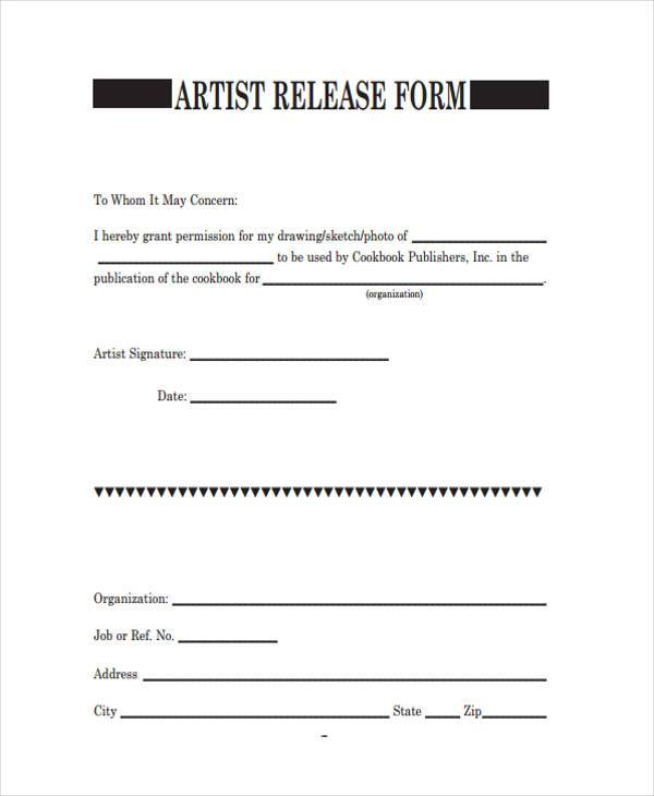 free 8  sample artwork release forms in pdf