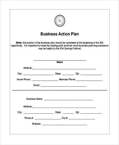 Business Action Plan Business Action Plan Template Powerpoint