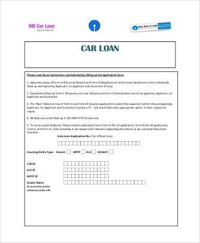 Best Free Car Loan Agreement Form Contemporary Resume Samples
