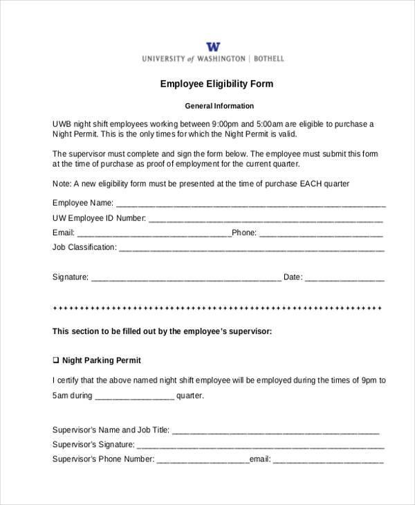 free employee eligibility form