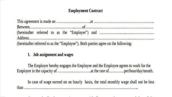 Free 35 Employment Form Samples In Pdf Ms Word Excel
