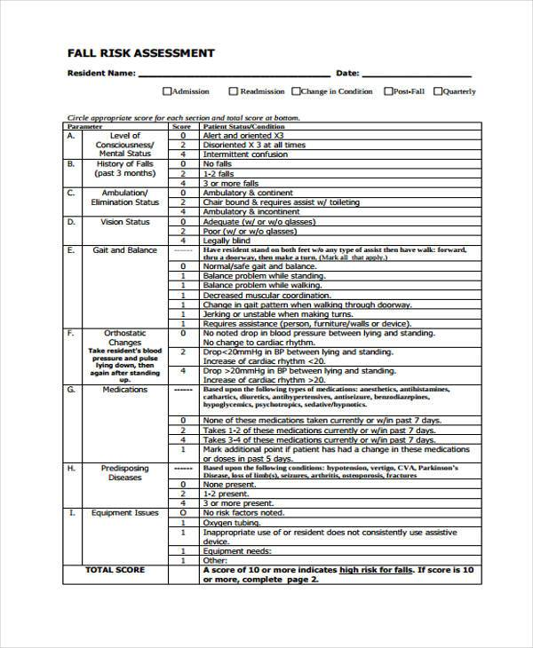 Doc500500 Risk Assessment Form Template Free Fire Risk – Free Risk Assessment Template