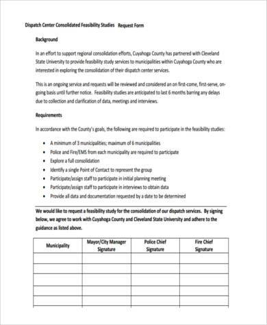 free feasibility request form