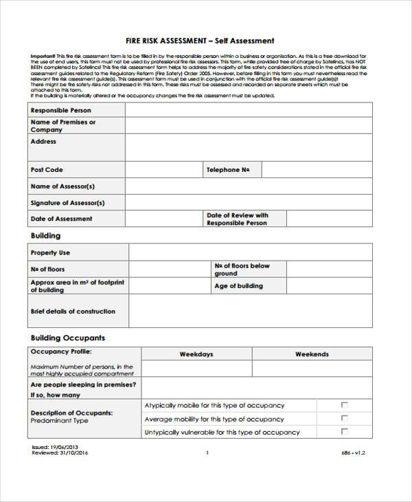 free fire risk assessment form1