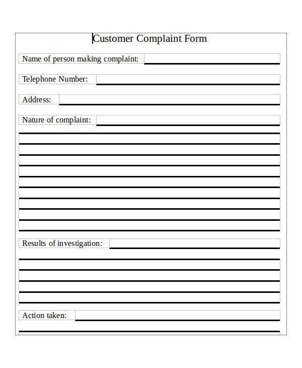 free guest complaint form2