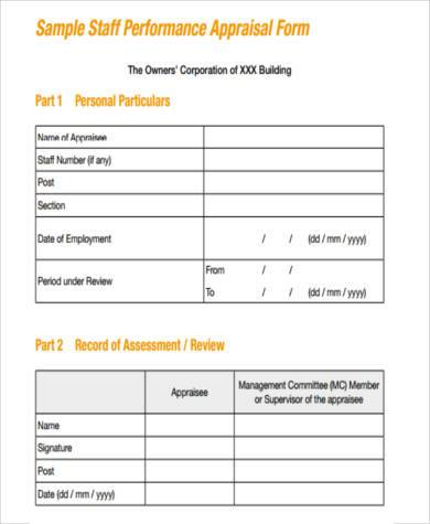 Free Management Appraisal Form  Free Appraisal Forms
