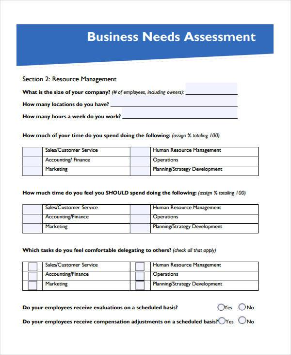 free marketing assessment form1