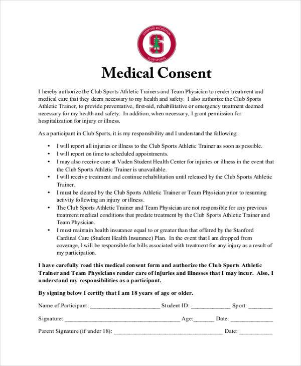 free medical consent form