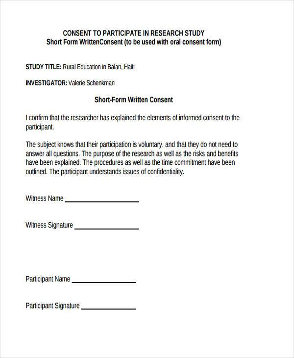 free research consent form
