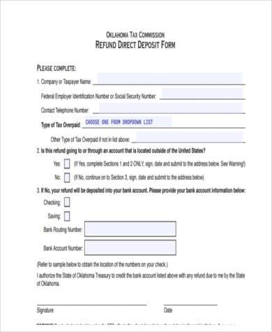 free vehicle deposit form