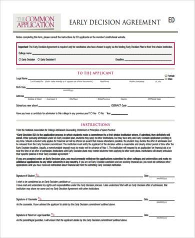 general agreement legal form