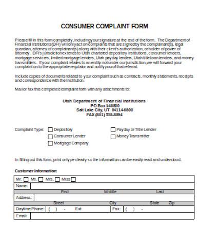 general consumer complaint form6