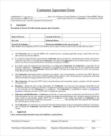 general contractor agreement form2