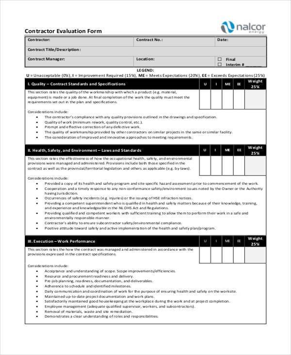 general contractor evaluation form1