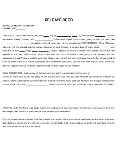 general deed release form