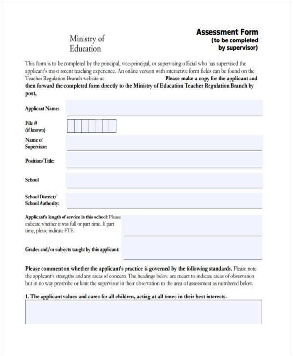 general education assessment form1