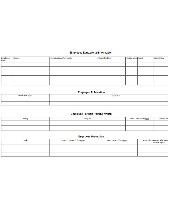 general employee promotion form