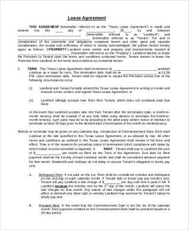general lease agreement form1