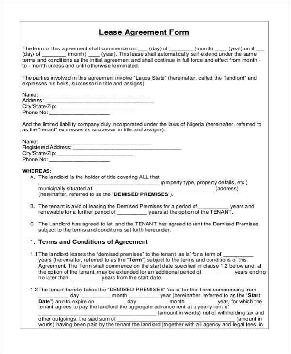 General Agreement Sample Forms  Free Sample Example Format