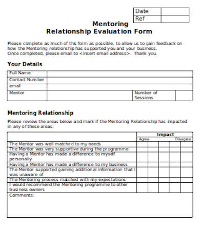 general mentoring relationship evaluation form
