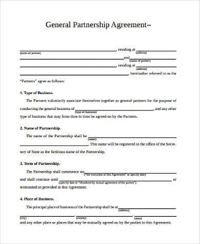 General Agreement Form Samples   Free Documents In Word Pdf