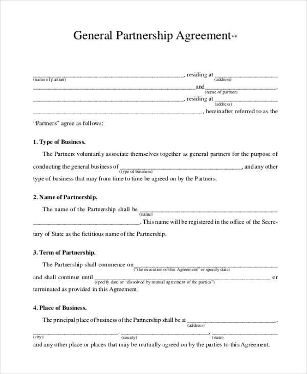 agrement forms 8  General Agreement Sample Forms - Free Sample, Example Format Download
