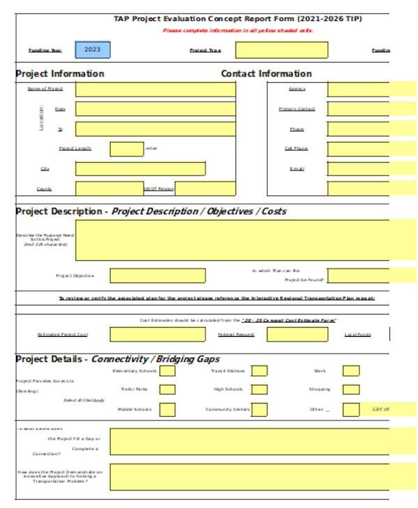general project evaluation form