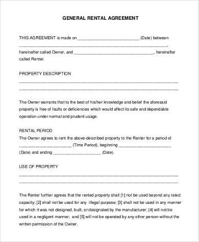 general rental agreement form1