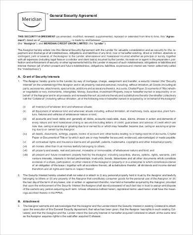 general security agreement form1